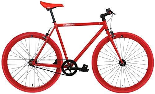 FabricBike- Bicicleta fixie blanca, piñon fijo, Single Speed, cuadro Hi-Ten acero, 10Kg (L-58cm, Fully Glossy Red): Amazon.es: Deportes y aire libre