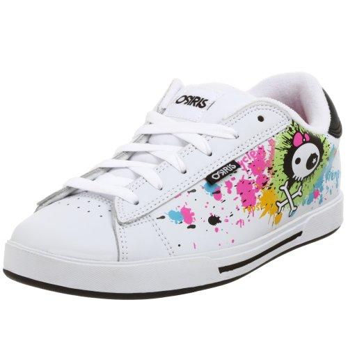 Osiris Women's Serve Becky Bones Sneaker,White/BBones/Splat,8 M (Womens Shoes Osiris)