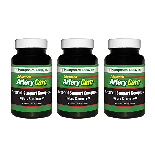 Advanced Artery Care Supplement with EDTA for Heart Health Support, Addresses Poor Circulation and Targets Clogged Arteries. Helps Remove Toxins and Supports Clean and Supple Arteries. (3)