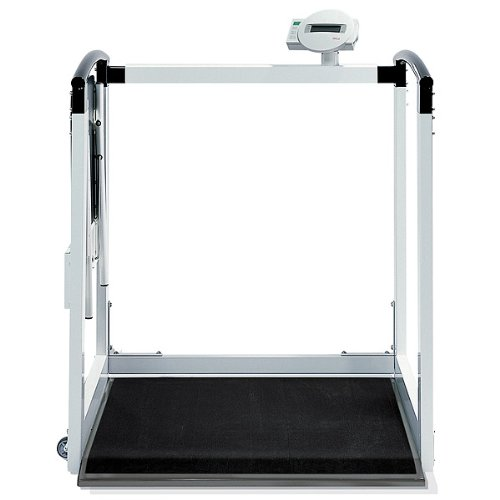Seca Multifunctional Scale W/Handrail And Fold Up Seat 800 Lb Capacity - Model (Seca Handrail Scale)