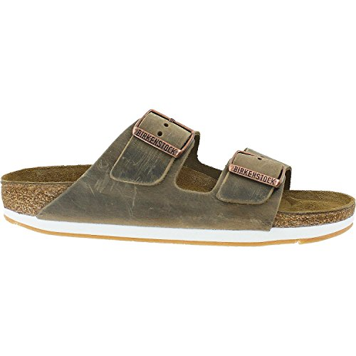 Birkenstock Mens Arizona Slide Sandal Tobacco Oiled Leather Size 36 N EU (5-5.5 N US - Mens Slides Arizona