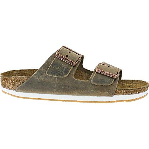 Birkenstock Mens Arizona Slide Sandal Tobacco Oiled Leather Size 36 N EU (5-5.5 N US - Slides Mens Arizona