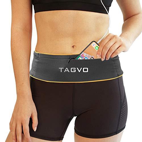 TAGVO Running Tailleband, verstelbaar klittenband & comfortabel met sleutelclip taille tas Past op alle iPhone's…