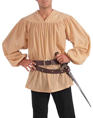 Forum Novelties Men's Adult Medieval Costume Top, Beige, One (Medieval Male Costumes)