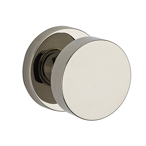 Baldwin Privacy Knob - Baldwin PV.CON.CRR Modern Privacy Door Knob Set with Contemporary Round Rose fro, Polished Nickel