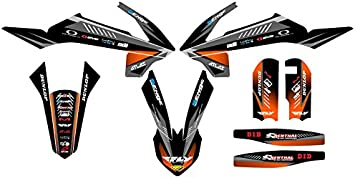 2016-2018 SX 65 Surge Black Base Senge Graphics kit Compatible with KTM