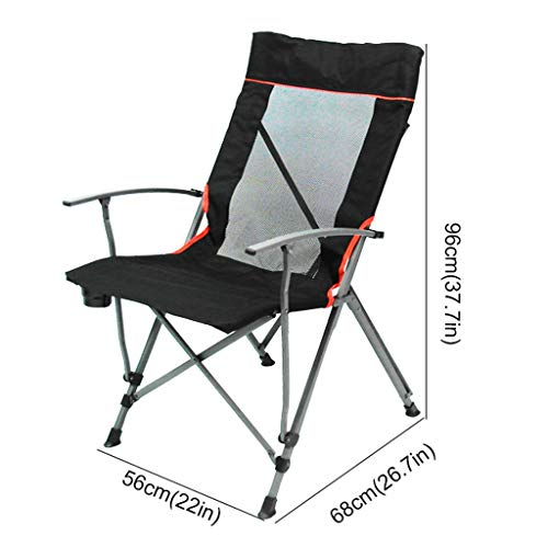 Amazon.com: Portable Camp Chair, Folding Chair High Back ...