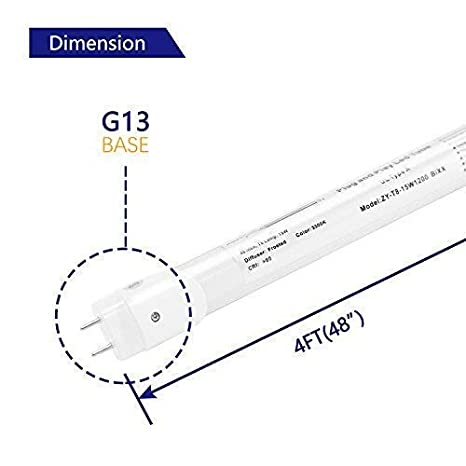 32W equivalent Frosted Cover,Fluorescent Light Bulbs Replacement,with or without ballast EVE 4Pack T8 LED Light Tube 4ft 15w Dual-End Powered internal driver ,1950 Lumens 4000K Daylight White