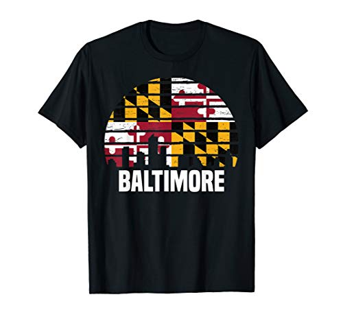 Baltimore Maryland T-Shirt MD Group City Silhouette -
