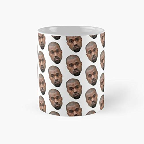 Kanye Face Pattern Mug, collage Funny Mugs, 11 Ounce Ceramic Mug, Perfect Novelty Gift Mug, Tea Cups, Funny Coffee Mug 11oz, Tea Mugs]()