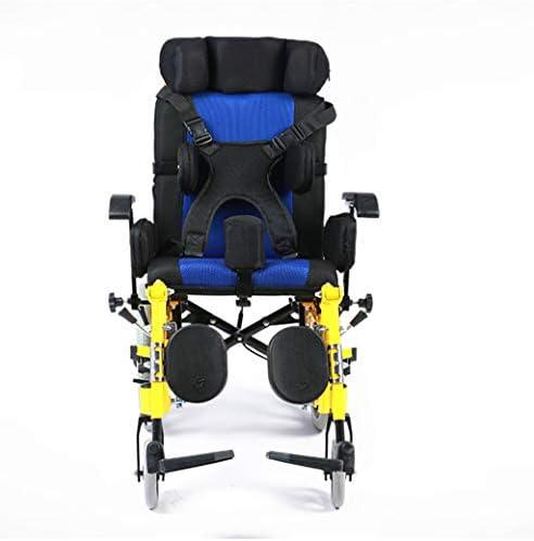 Chunse Faltbarer Kinderrollstuhl, der medizinisches, faltbares Mobilitätsgerät mit abnehmbarem Speisetisch und Beckengurt fährt
