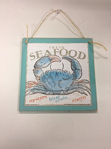 The Little Store Of Home Decor Fresh Seafood Oysters Blue Crabs Clams Beach kitchen Wooden Wood Wall sign florida home house decor decorations ()