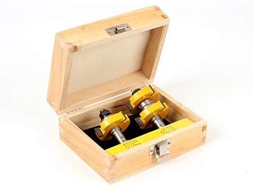Yonico 15224 1-1/2-Inch 2 Bit Tongue and Groove Router Bit Set 1/2-Inch Shank