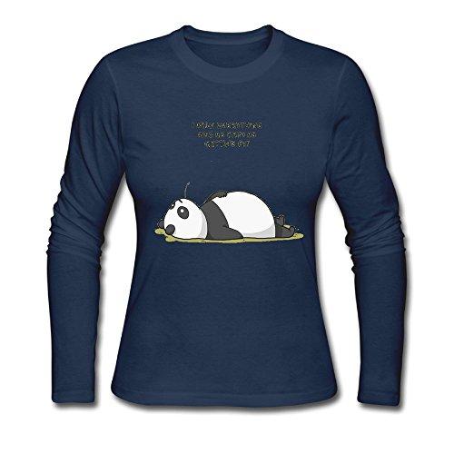 bosenjiaju Women's Shirts Panda Funny T - Ups Tracking First Package Class