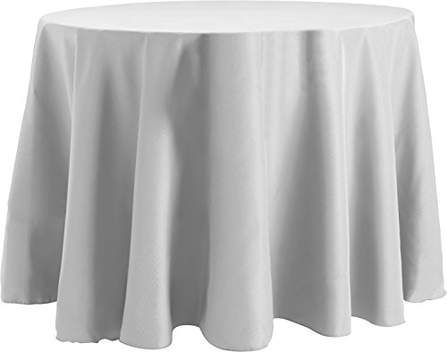Tablecloth Basic (Bright Settings 60 x 120 Inch Oval Tablecloth, Flame Retardant Basic Polyester, White)