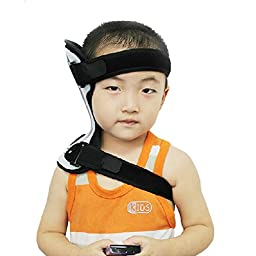 Children Neck Adjustment Support Brace Torticollis Orthotics Rehabilitation Device (L(4 years old-10 years old))