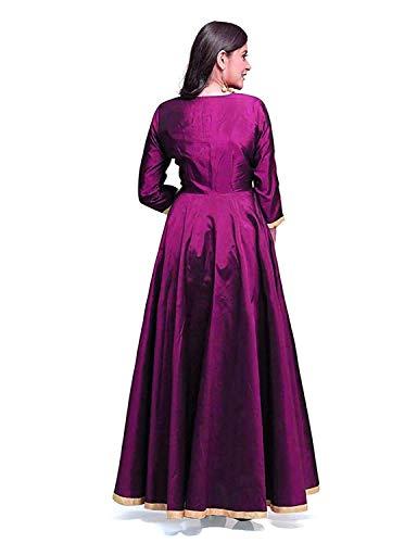 e1077d307bf4 Saptarangi Women s Taffeta silk dress (Purple)