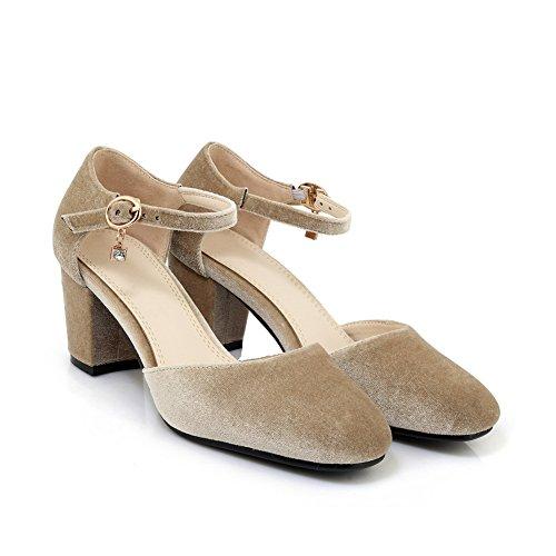 Sandales Beige Inconnu 5 Compensées Abricot 36 1TO9 Femme wCrq5vrI