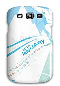 Excellent Design January 2013 Calender Case Cover For Galaxy S3