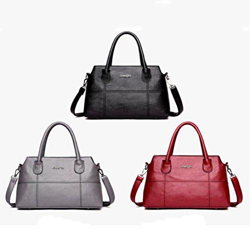Tote Zipper Bag Leather Bags Soft Purse Clearance Messenger Party Capacity Handbag Bag Bags Bag Ladies Handle PU Sale Women Halijack Shoulder Shopping Black Bag Elegant Casual Crossbody Large xZw0Uvw7q