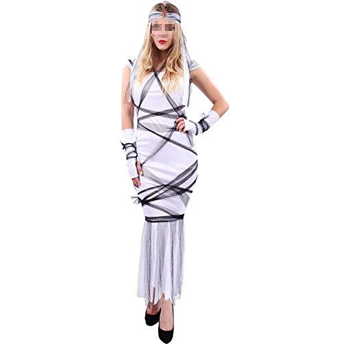 [Women's Terror Banshee Zombie Princess Dress Halloween Game Cosplay Stage Costume] (Banshee Costumes)