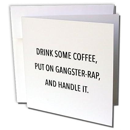 3dRose Beber algo de café, poner en la gorra y el mango It ...