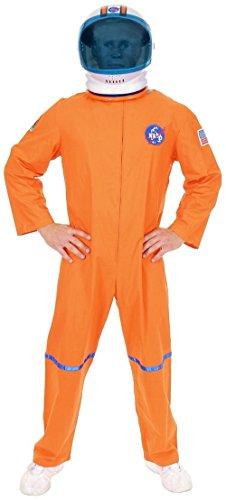 Adult 3XL 56-60 Orange NASA Astronaut Space Suit Costume and Helmet Bundle -