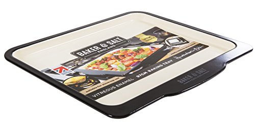 Baker & Salt Heavy Duty Premium Induction Enamel Baking Tray 37cm 14.5″