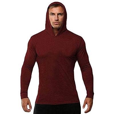 Big Promotion Caopixx Sweatshirt for Men 2018 Men's Compression Hoodies Sport Training T-Shirt Long Sleeve Hooded Pullover