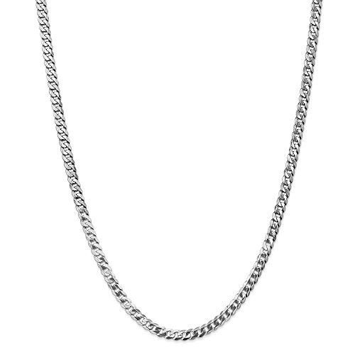 Jewels By Lux 14K White Gold 4.75mm Beveled Curb Chain