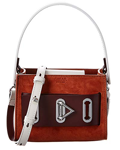 Salar Milano Bella Suede Leather Shoulder Bag Orange