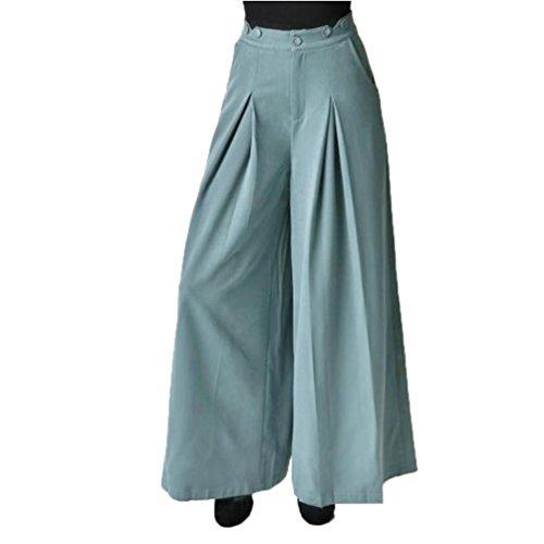Pantalon large Winwintom Femmes RTro Sangle Deux Pour Porter Des Pantalons  Jambes Larges Vintage Strap Two Wear Pantalon Large Leg Pantalon LaChe Jumpsuit Overalls Bleu
