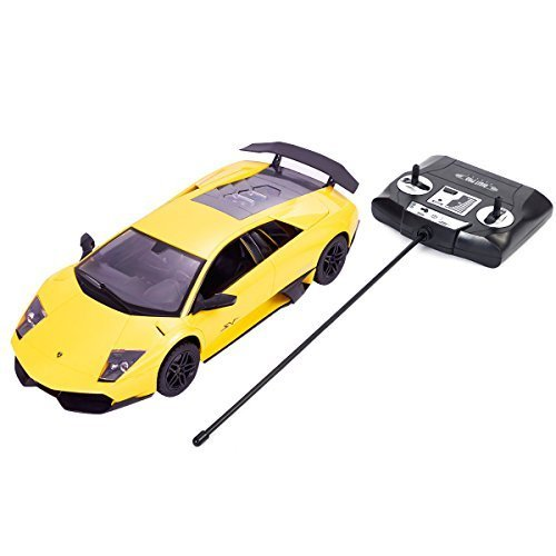 Safstar 1/14 4CH Radio Remote Control Lamborghini Murcielago LP670-4 Super Veloce Model Car (Yellow) ()