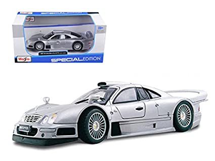 Amazon Com Maisto Mercedes Clk Gtr Amg Street Version Silver 1 26