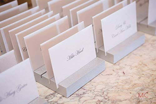 Place Card Holders for Wedding & Event Escort Card Display Cards Guests Seating Table Finder Cards, Custom Colors (10 Slots) -