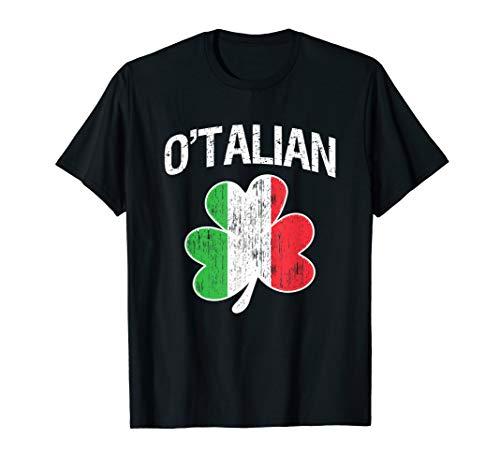 O'Talian Italian Shamrock Flag Italy Pride Irish T-Shirt