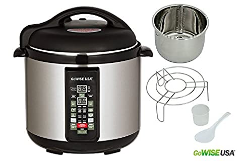GoWISE USA 8-Quart 8-in-1 Electric Pressure Cooker/Slow Cooker
