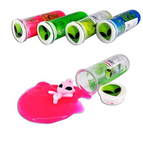 Novelty, Inc. 4-Pack Alien Test-Tube Neon Slime Putty for Kids