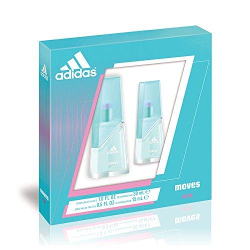 Adidas Fragrance Moves for Her 2 Piece Gift Set (0.5 Ounce Plus 1 Ounce Eau De Toilette) (Adidas Gift Set Body Wash)