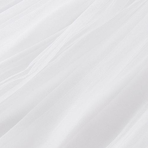 uideazone Taille Jupe Femmes lgante lastique Longue Tulle Longue Blanc tvq7wrv