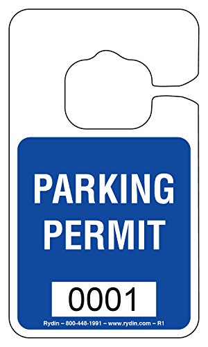 Parking Permit Hang Tag - R-1 - Stock Hang Tag (Dark Blue)
