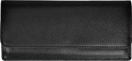 Blocking in Saffiano Wallet Rfid Credit Royce Card Leather Black Leather Black Clutch qAg6W0Ew