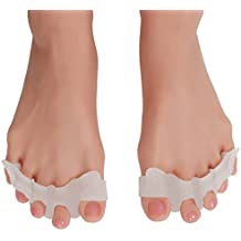 10% off 4 or more Pain Alleviating super-soft & stretchy Gel Toe Separators, Spreaders, Stretchers, Straighteners for Women & Men for Hallux Valgus and Sports, Yoga, Bunion Correction 1 PAIR