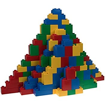 Strictly Briks - Big Briks Set - 204 Pieces - Blue, Green, Red, & Yellow - Compatible with All Major Brands - Large Building Blocks for Ages 3 and Up