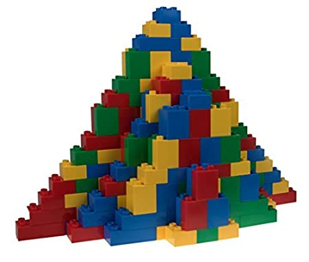 Classic Big Briks | Building Brick Set 100% Compatible with All Major Brands | 2 Large Block Sizes for Ages 3+ | Premium Building Bricks in Blue, Green, Red, and Yellow | 108 Pieces