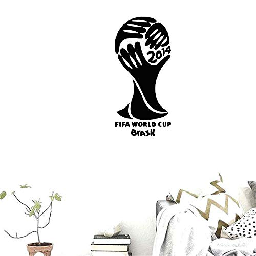 Wall Decal Removable Quote Decor Design Decal Stickers World Cup Brazil 2014 for Nursery Kid Bedroom ()