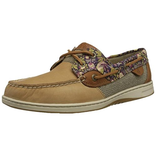 Blue Fish Boat Shoe - Sperry Top-Sider Women's Blue Fish Liberty Floral Boat Shoe, Linen/Berry, 5.5 M US