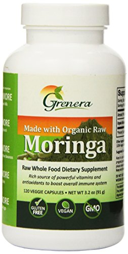 Grenera Nutrients Inc - Certified Organic Raw Moringa 120 veggie caps