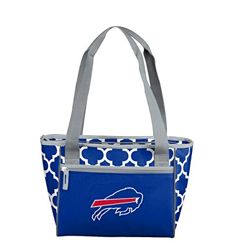 Logo Brands NFL Buffalo Bills 16 Can Cooler Tote, Royal, One Size