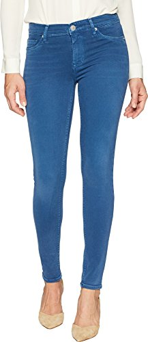 (HUDSON Women's Nico Mid-Rise Ankle Super Skinny in Dusted Sapphire Dusted Sapphire 24 28)